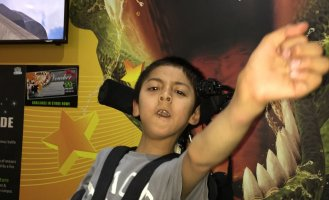 Luke (10) who has Cerebral Palsy absolutely loved 9D!